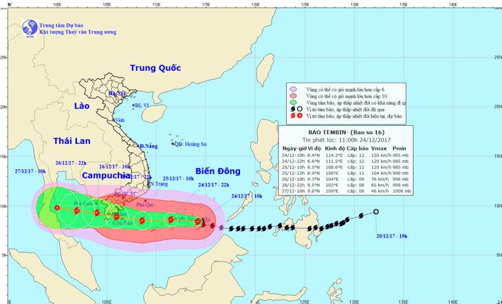 Тропический шторм на острове Фукуок