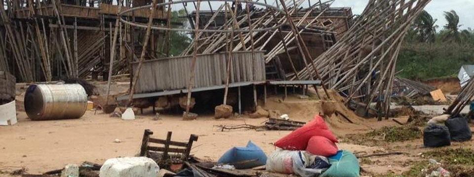 Потоп на острове Фукуок - пляж эпизод